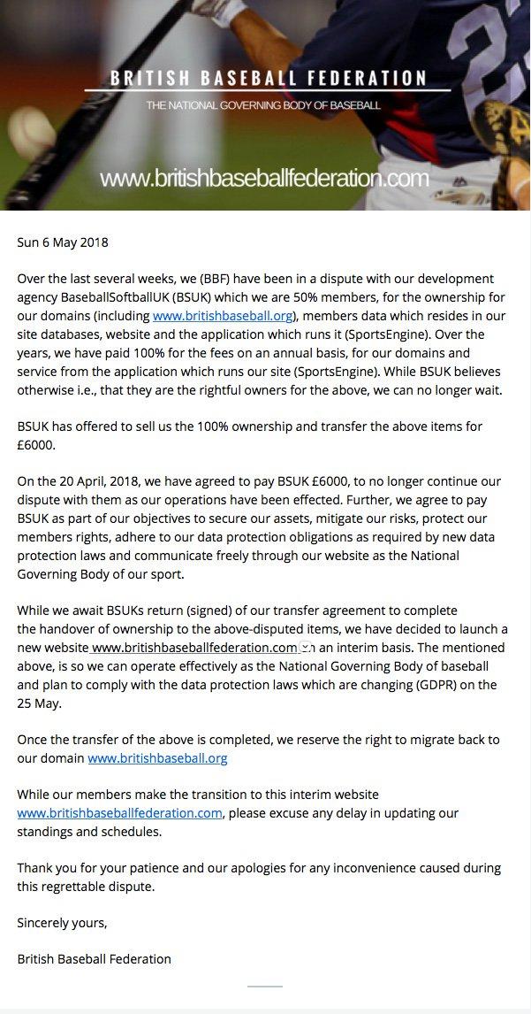 British Baseball Federation Britishbaseball Twitter