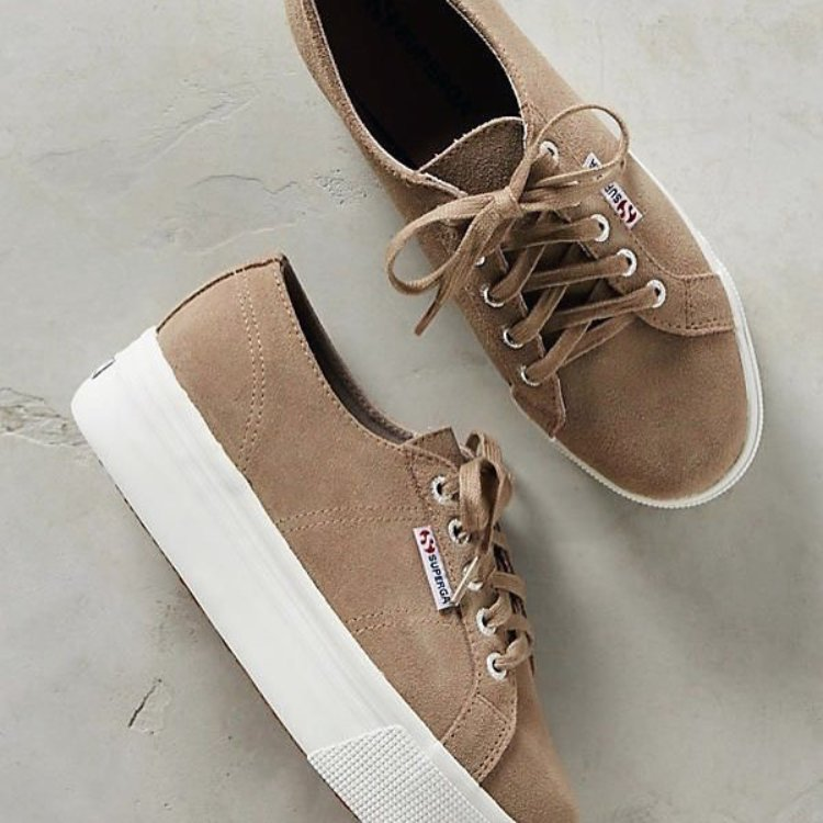 Superga suede sneakers in sand