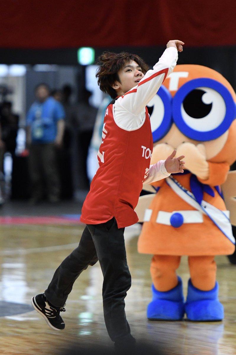 宇野昌磨選手によるシュートチャレンジ