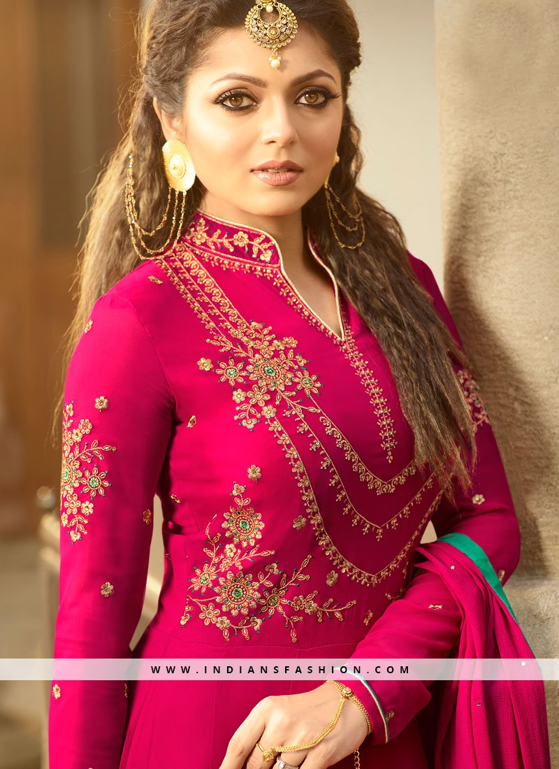 26334080e0 Drashti Dhami Faux Georgette Floor Length Anarkali Suit. Buy now @  https://bit.ly/2HVup1v #suit #salwar #bollywoodsuit #drashtidhamidress  #salwarkameez ...