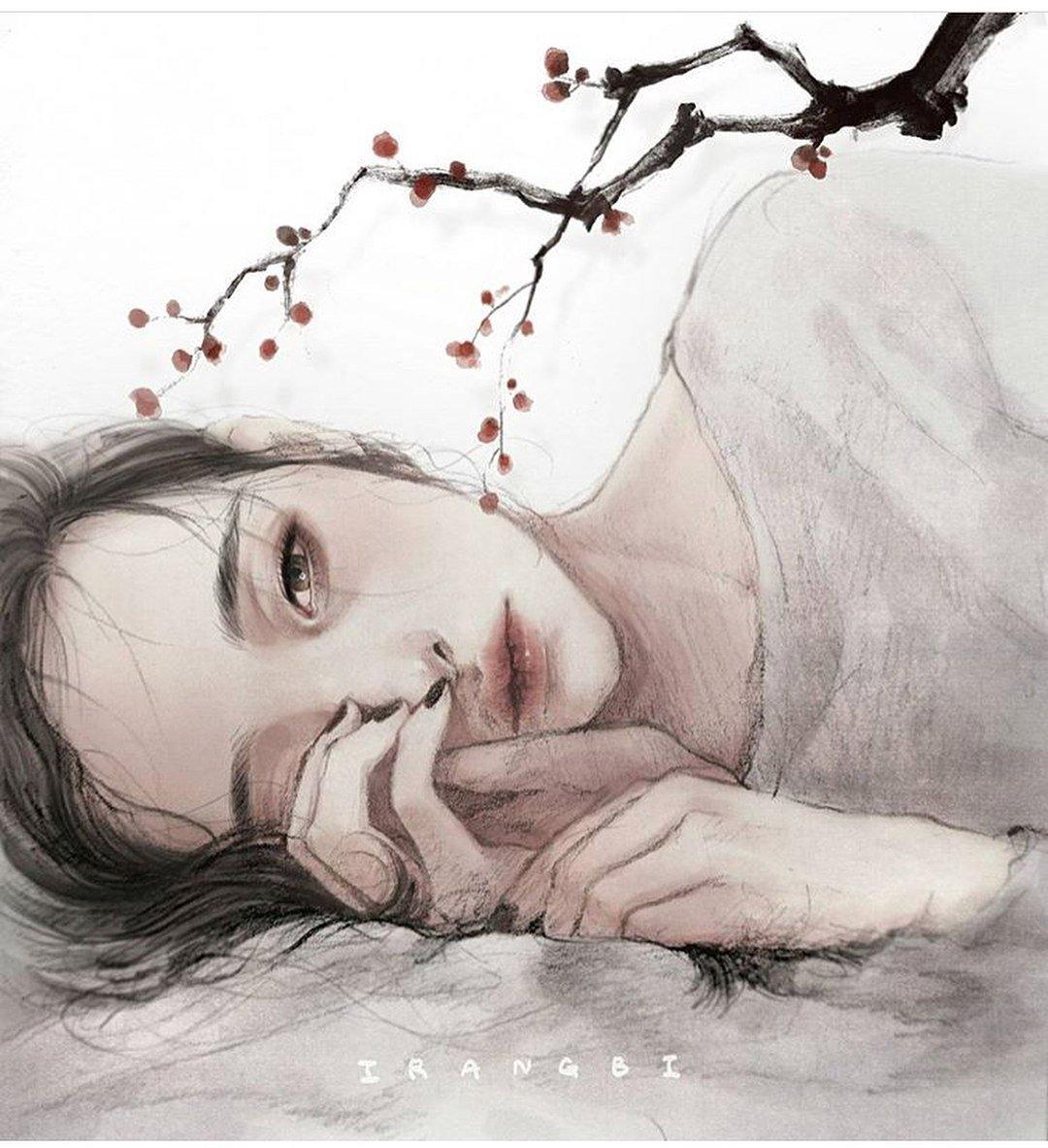 Девушка плачет нарисованный картинки