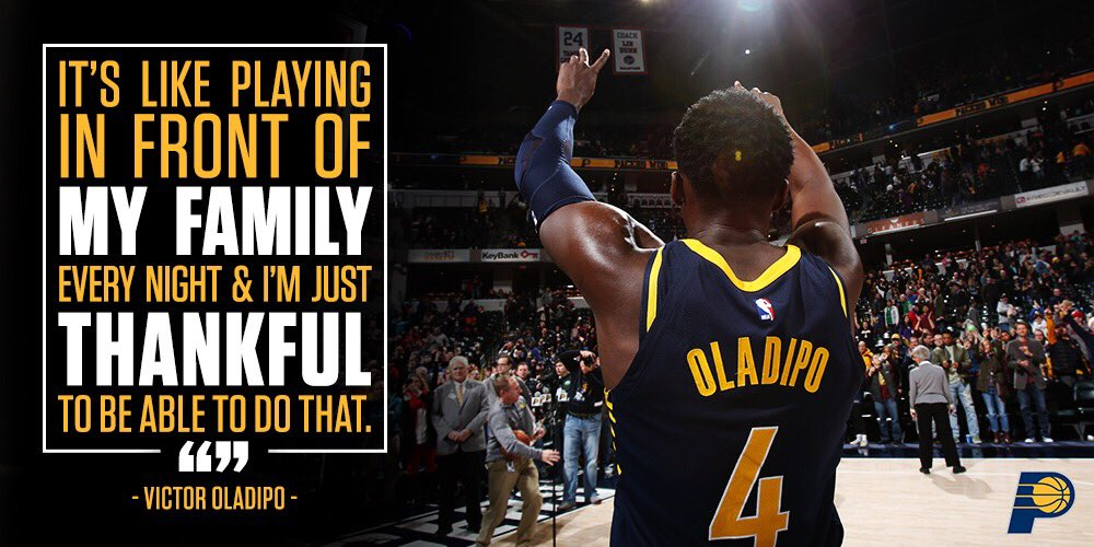 Thank you, #Pacers fans. From @VicOladipo: https://t.co/Vd9MCJFd23