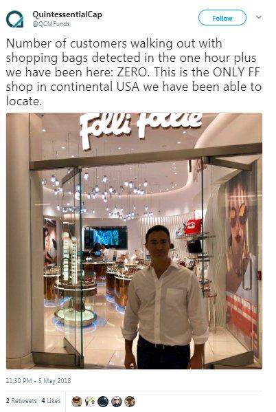 1a7272b8ea Σε άλλο τουίτ όπου στέλεχος του fund βγάζει σέλφι και αναφέρει πως οι  πελάτες που βγαίνουν από το κατάστημα της μετά από μία ώρα που παρέμεινε  εκεί ...