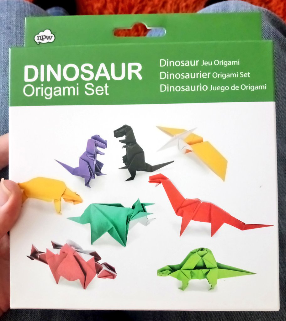 Origami dinosaurs stickers set. Set of different origami dinosaurs ... | 1024x912