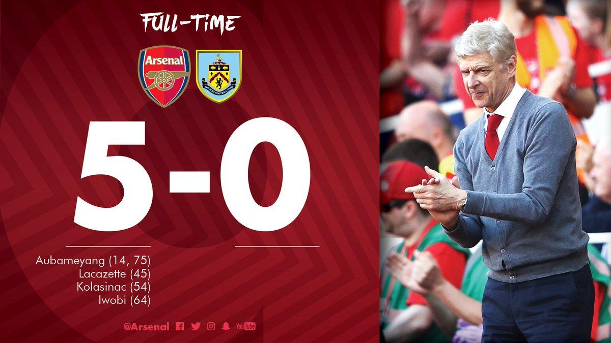 Chấm điểm kết quả Arsenal 5-0 Burnley