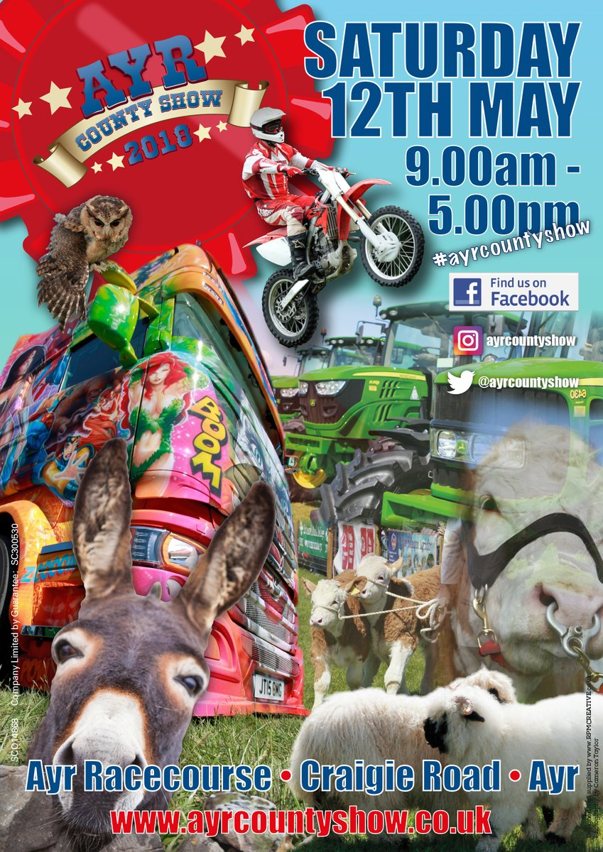This Saturday we will be attending @ayrcountyshow Why not come along and visit us!