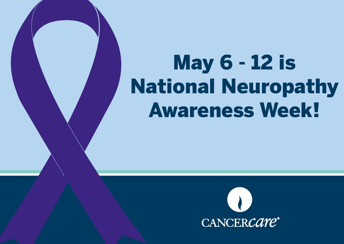 May 6-12 is #NeuropathyAwarenessWeek! Learn more about #neuropathy and how #CancerCare's free resources can help: https://t.co/DqsOhVyD13 https://t.co/Xx9EfIqdwT