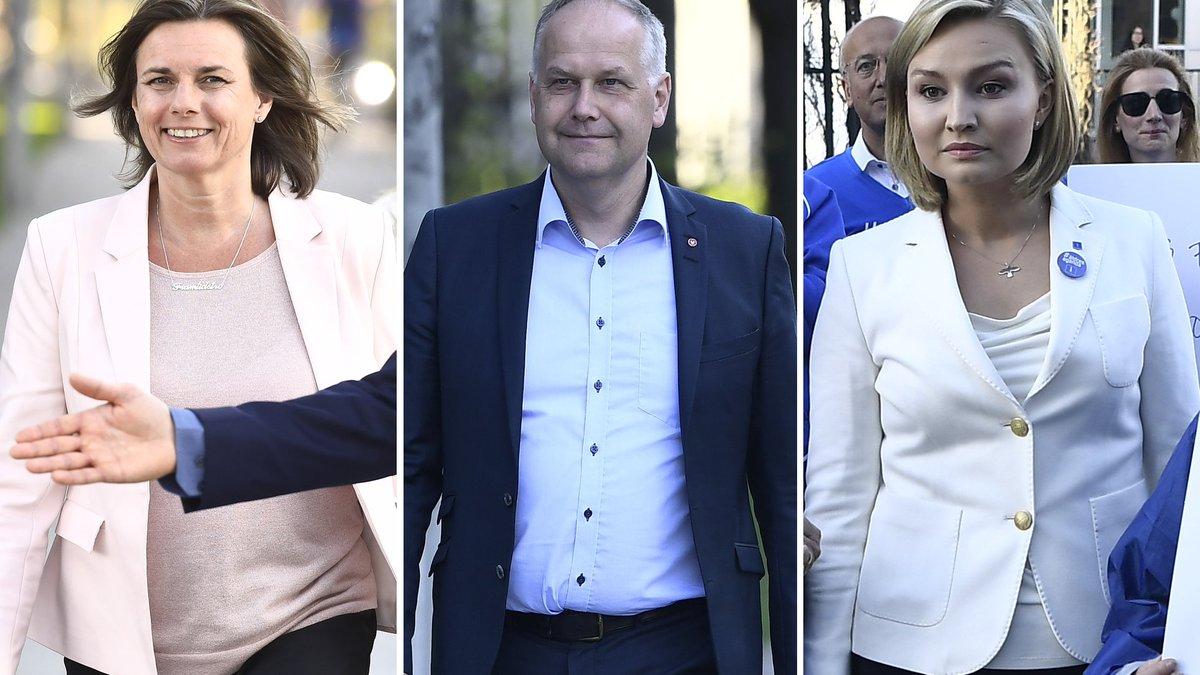Partiledarna anlander till debatten