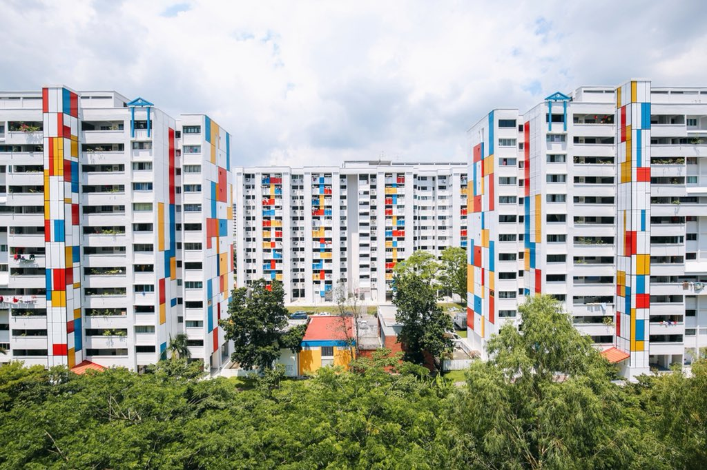 "Xavier Lur on Twitter: ""More photos of the HDB blocks with the ..."