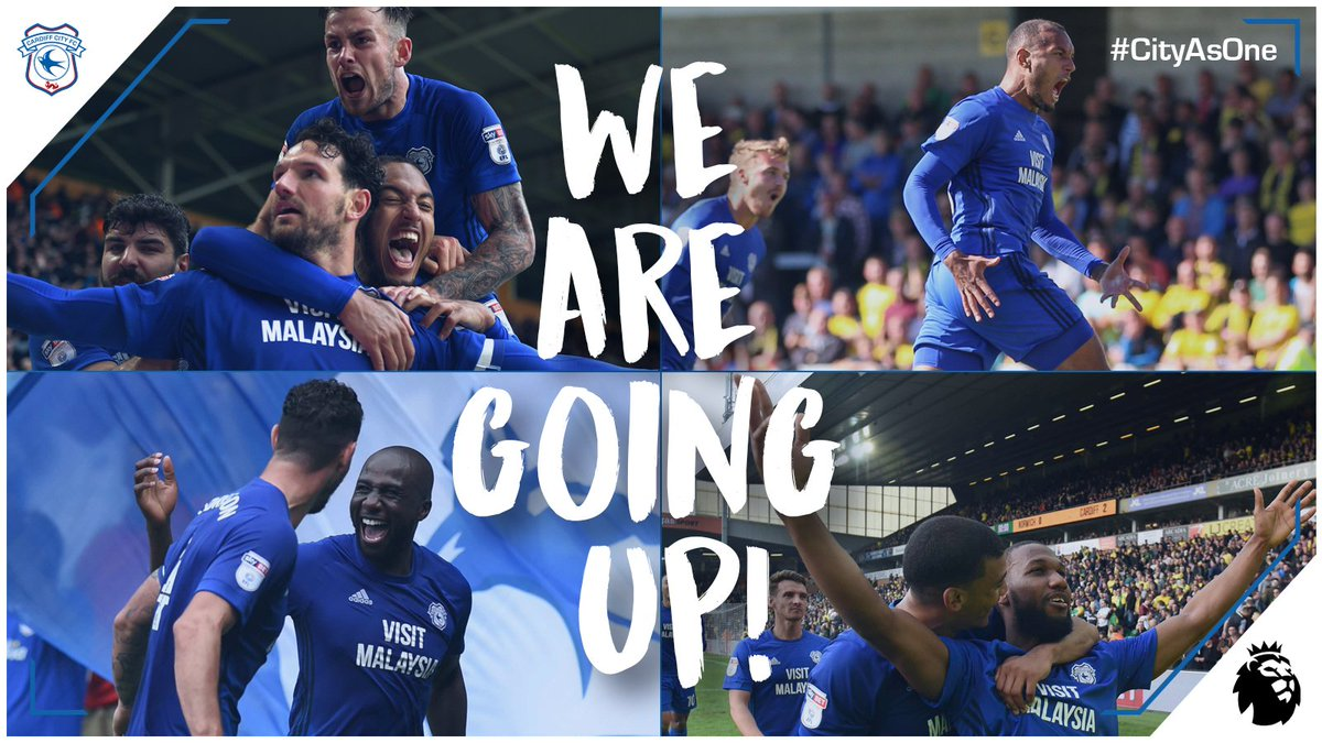 CONFIRMED | #CardiffCity finish second in the  with 90 points, AND ARE PROMOTED TO THE ! 💙   🔵⚽️🔵⚽️ #CityAsOne