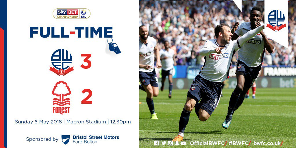 FULL TIME: Wanderers 3-2 @NFFC. WE ARE STAYING UP, SAY WE ARE STAYING UP!!! Football. Bloody hell. #BWFC 3-2 NFFC 🐘 🏰