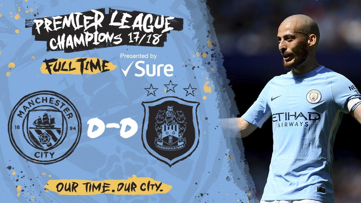 Chấm điểm kết quả Manchester City 0-0 Huddersfield Town
