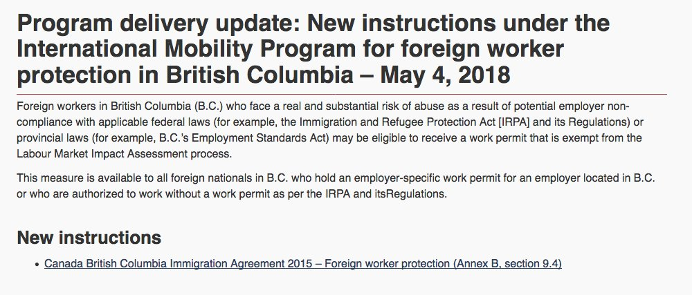 Cba Immigration Law On Twitter Program Delivery Update New