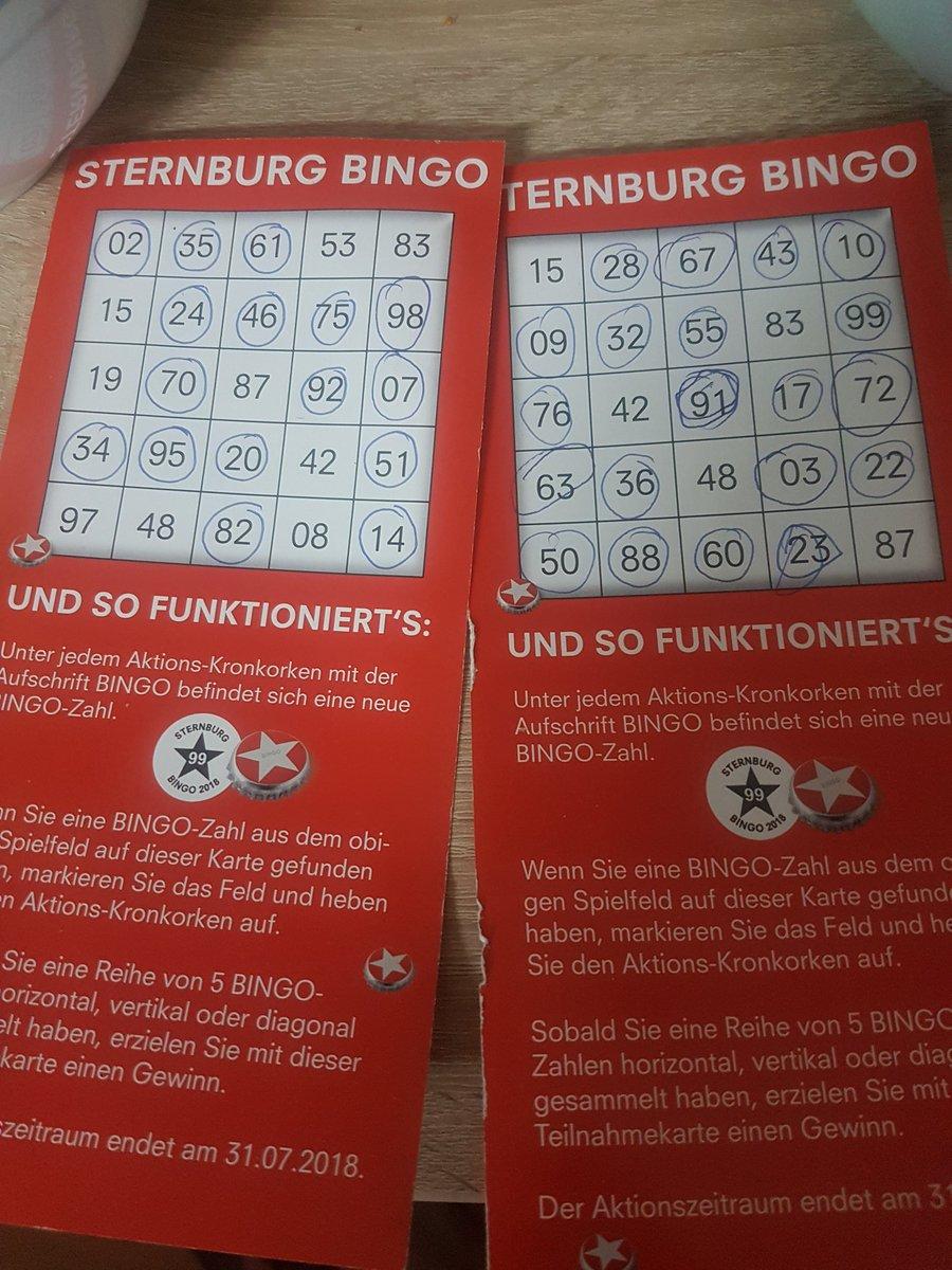 Sternburg bingo karten