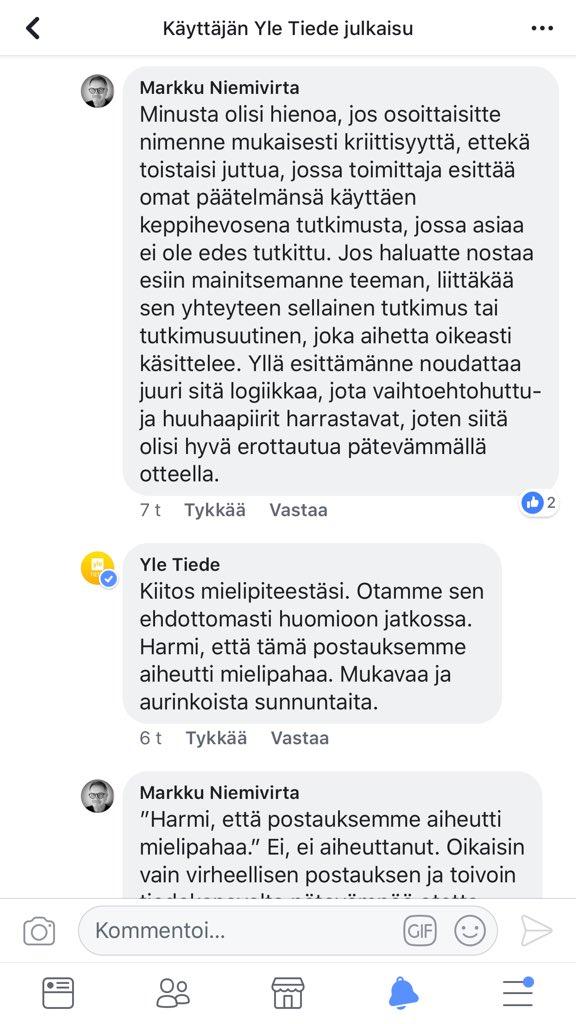 Markku Niemivirta on Twitter