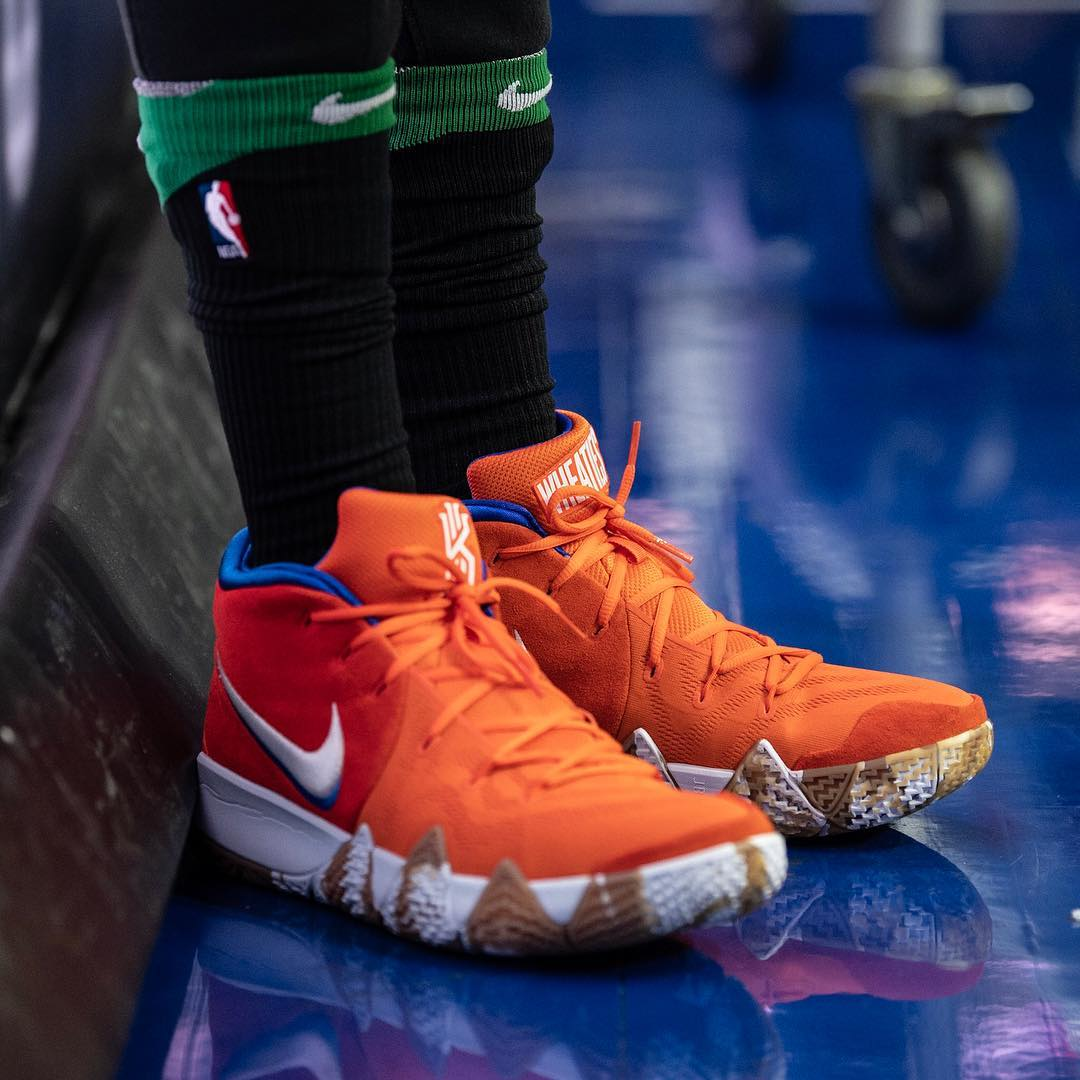 bb2ffb5ae92a83 100 pairs of the shoes were made in celebration of Kyrie Irving s Wheaties  box