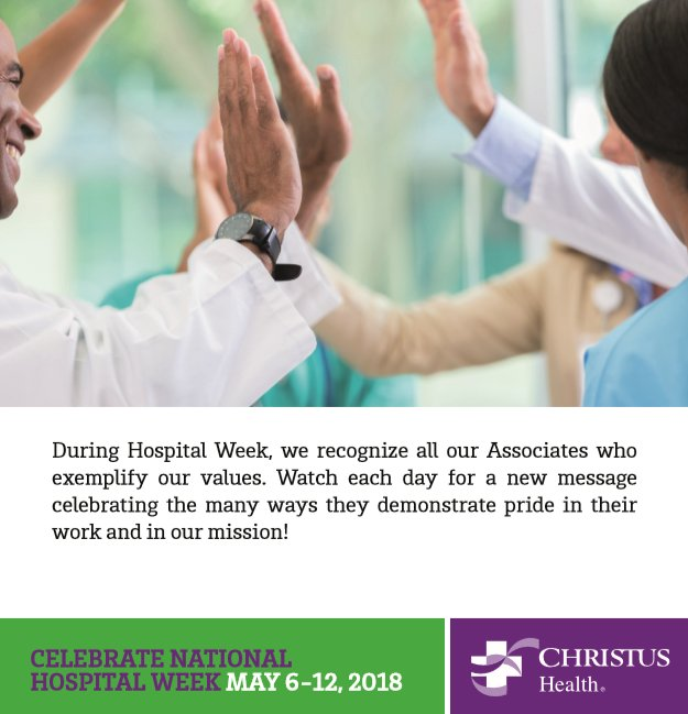 #NationalHospitalWeek kicks off today!pic.twitter.com/mcjgK9xkNM
