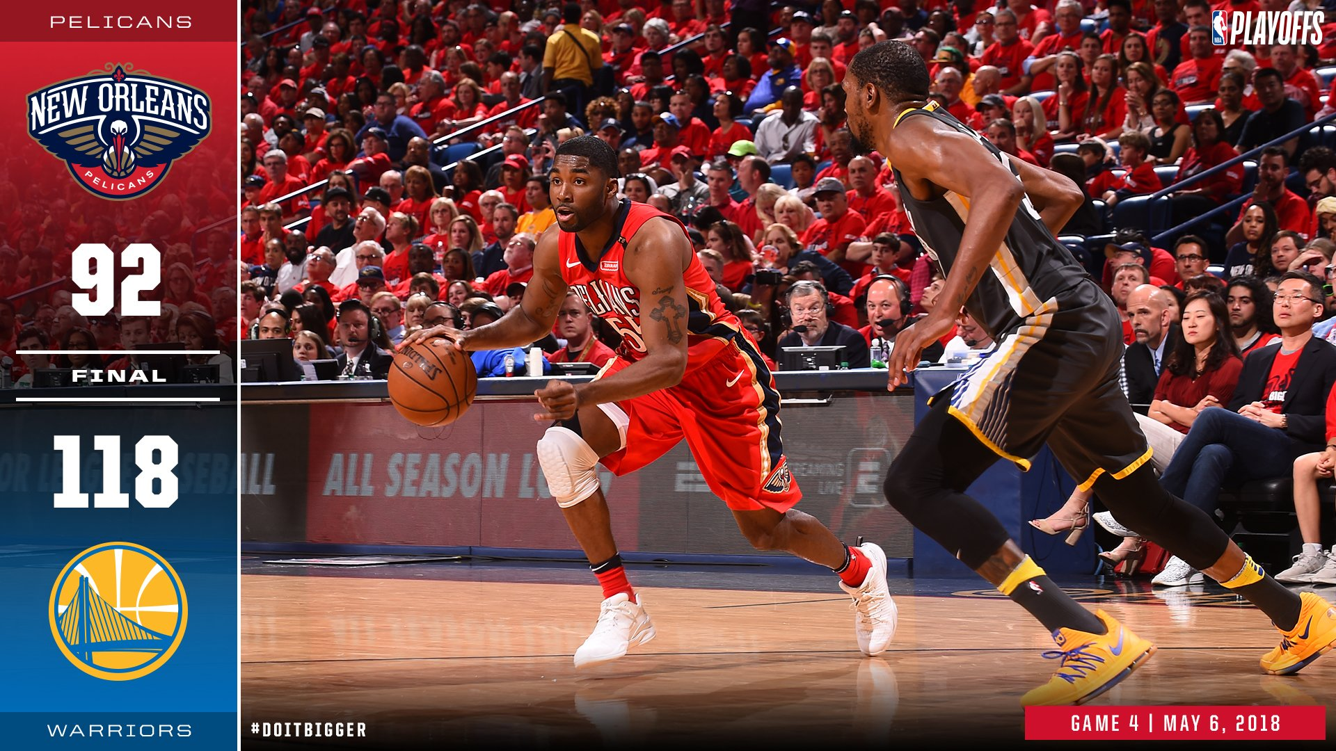 #Pelicans fall to Warriors in Game 4. https://t.co/9lJuN8ynYX