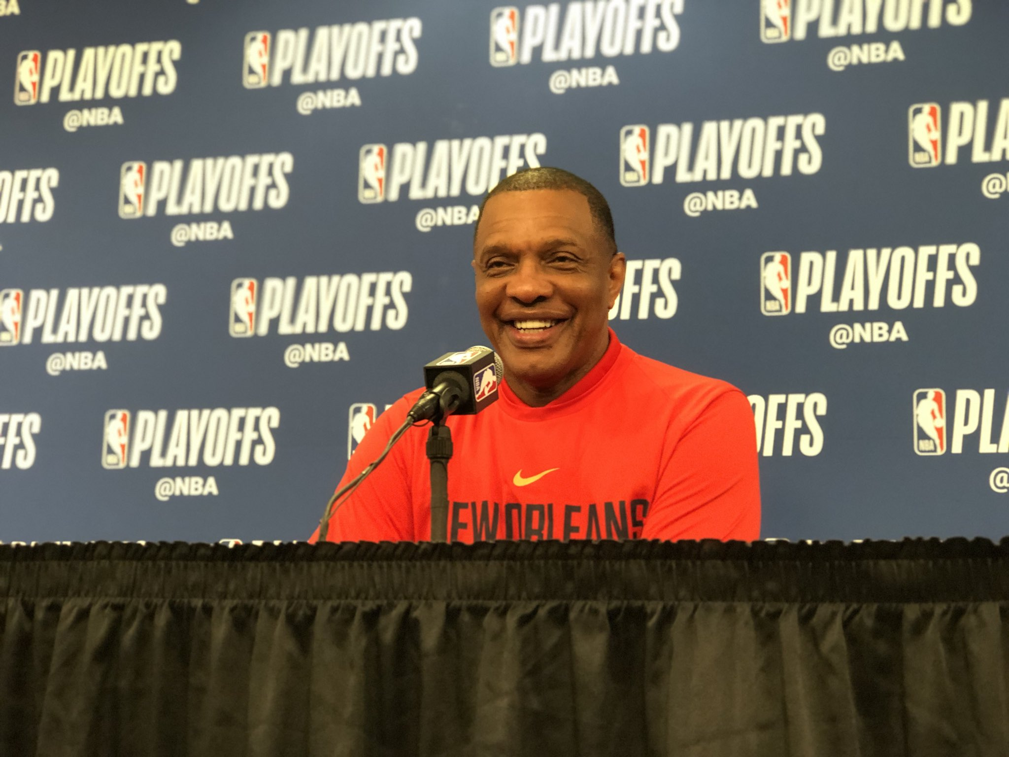 Gentry is speaking with the media pregame. Watch live: https://t.co/es6YOqpLj6 #DoItBigger   (Via @dixiebrewco) https://t.co/Ep95Zo1gu8