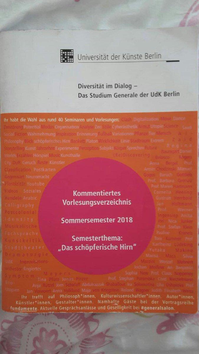 Udk Berlin Vorlesungsverzeichnis