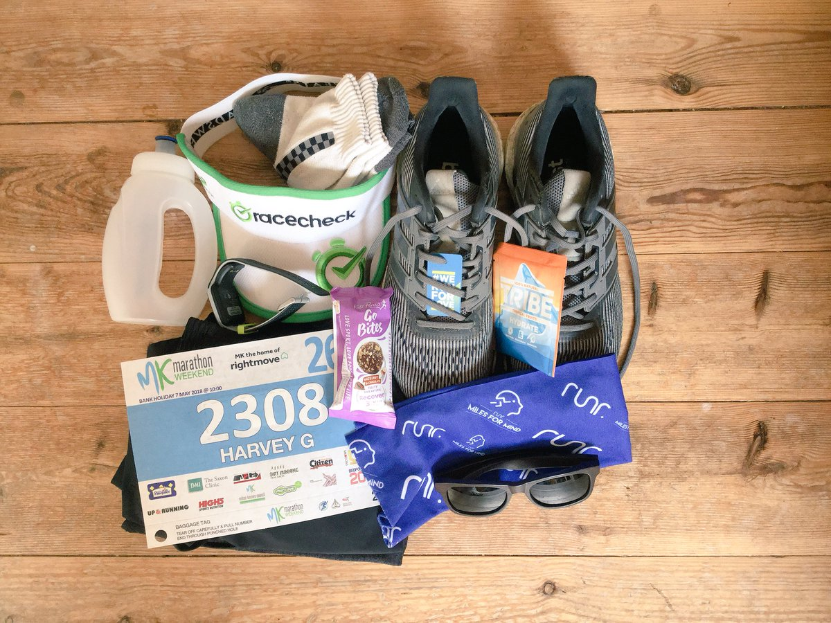 #kitshot klaxon! It's @mk_marathon tomorrow & it's gonna be a hot one! The question I always ask myself the night before a marathon, am I ready? Well, at least my kit is! #runr #ukrunchatpic.twitter.com/rzUd2mL1h7