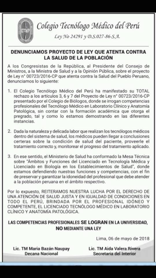 Consejo Regional 1, Colegio Tecnólogo Médico del P (@consejo_p ...