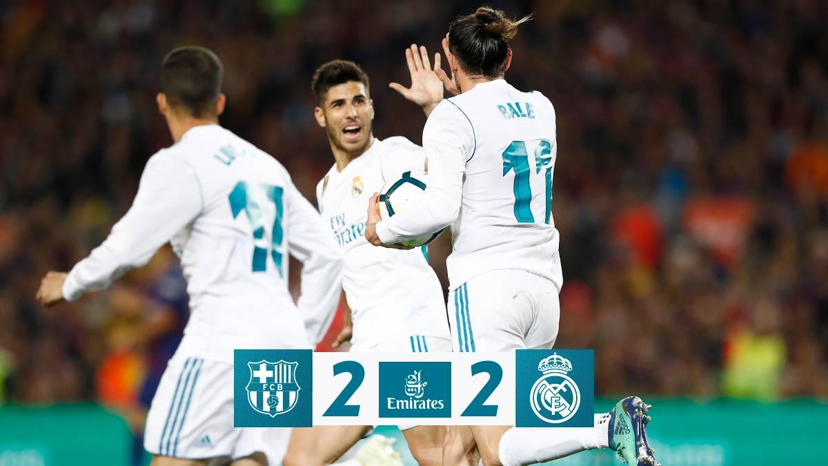 Chấm điểm kết quả Barcelona 2-2 Real Madrid