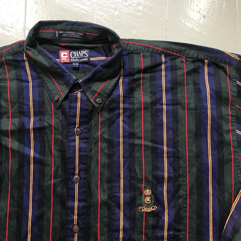 fa41dc62 ... Size - L / XL Price - £50 #Ralph #RalphLauren #Lauren #RalphLaurenChaps  #Chaps #Polo #Poloshirt #Shirt #Striped #Menswear #Outerwear #Streetwear ...