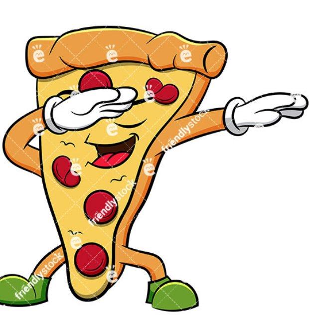 Прикольные маленькие рисунки кусок пиццы, золотые украшения любимой