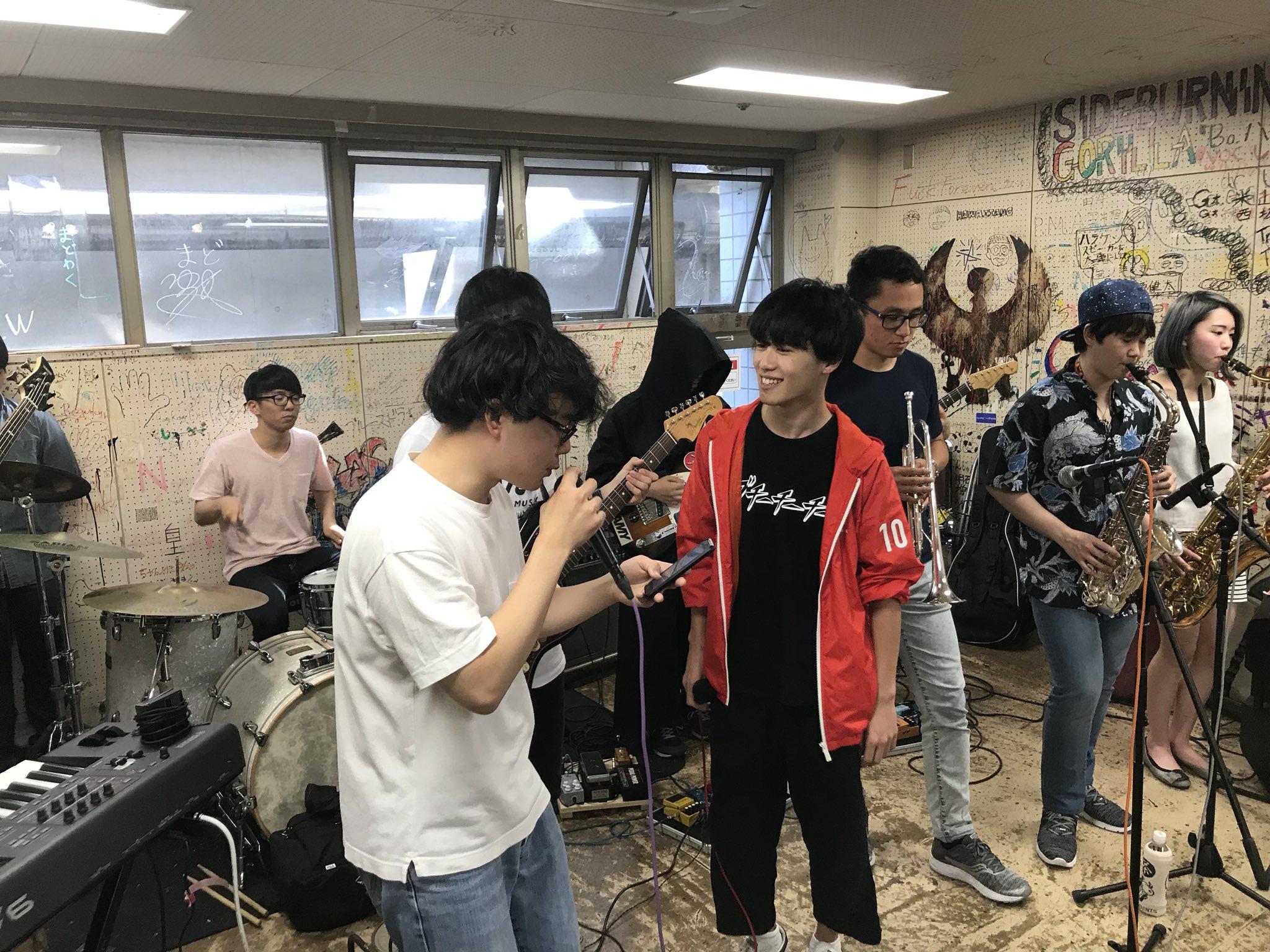 Keio students rehearse funk music at Hiyoshi campus