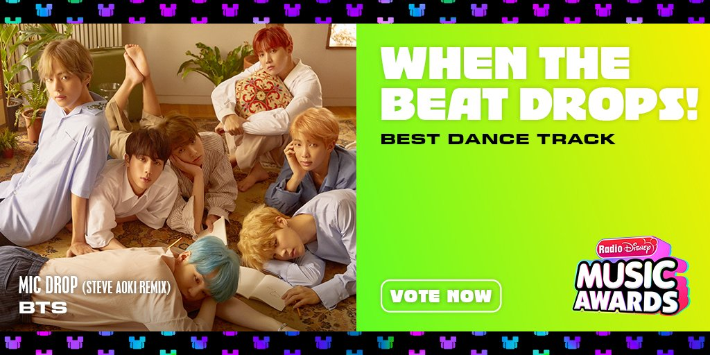 "RT to vote for #BTS ""Mic Drop (@steveaoki Remix)"" for #WhenTheBeatDrops! @radiodisney #RDMA @bts_bighit @BTS_twt"