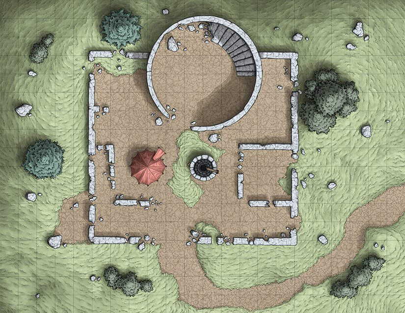 Venatus Maps On Twitter My Remake Of My Previous Battle Map For The D D 5e Adventure Lost Mines Of Phandelver This Old Owl Well Location Has Been A Great Proving Grounds For