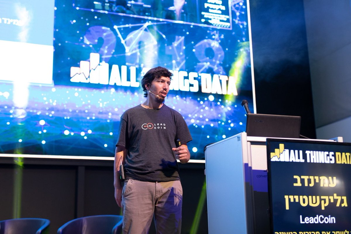 Our Head of Development, Aminadav Glickshtein, speaking at last weeks #AllThingsData conference in Tel Aviv. He spoke about how to improve site speed and increase conversions and received great feedback from the crowd! For more details, please visit:   https://www. atdconf.com /   <br>http://pic.twitter.com/9bqWxIbAdH