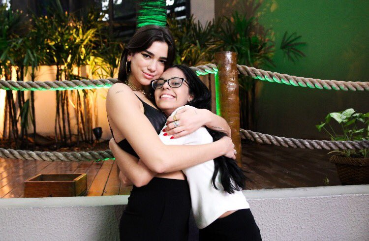 Hey @dualipa look at us being cute in Brazil!! Come back pls
