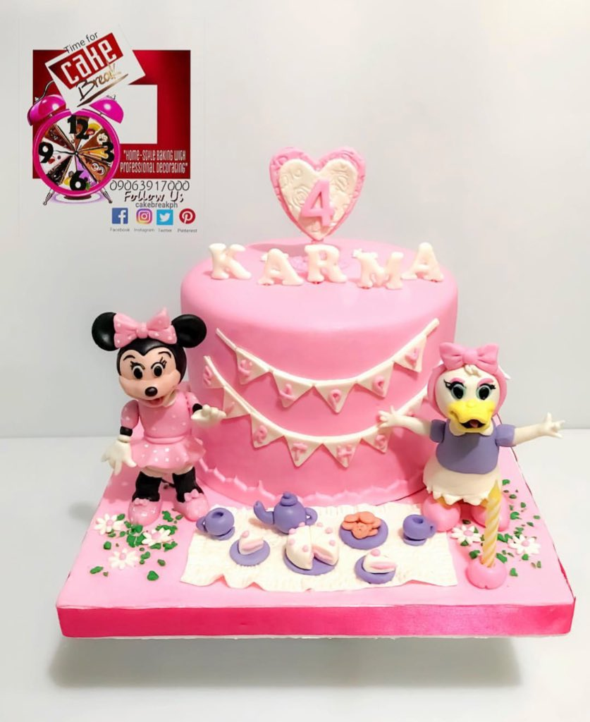 Terrific Cake Break Ar Twitter Minnie Mouse Daisy Duck Inspired Cake Personalised Birthday Cards Paralily Jamesorg