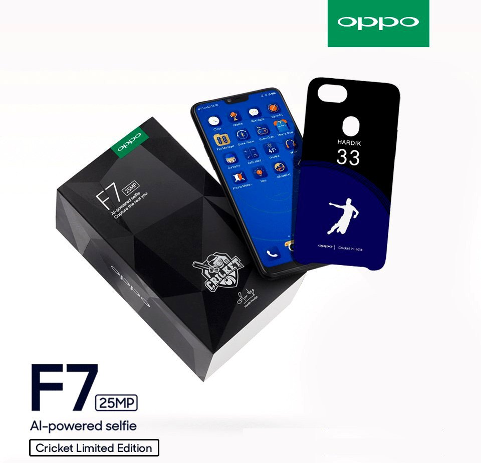 Oppo F7 Cricket Limited Edition Phone Launched