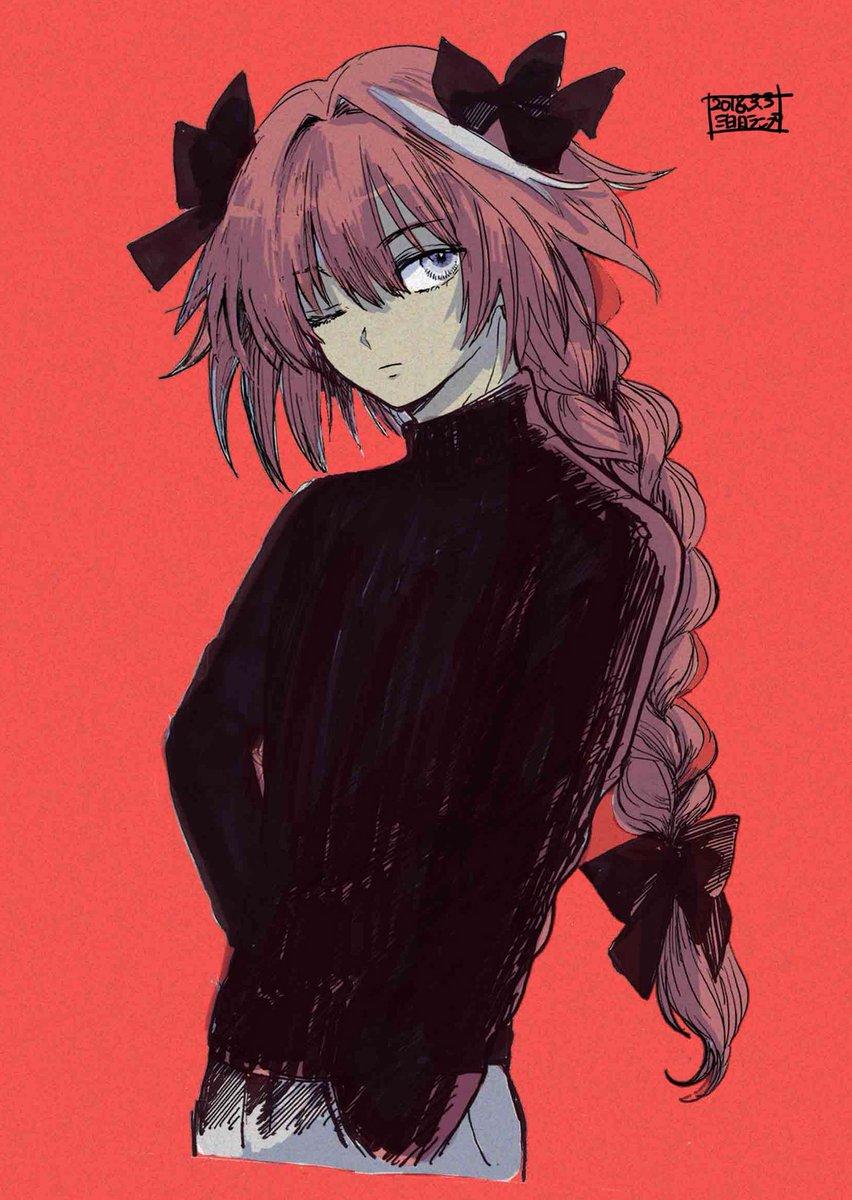 アストルフォくんに黒タートルネック着てもらいクールにきめてもらいたかっただけの絵、 前描いたのを加筆