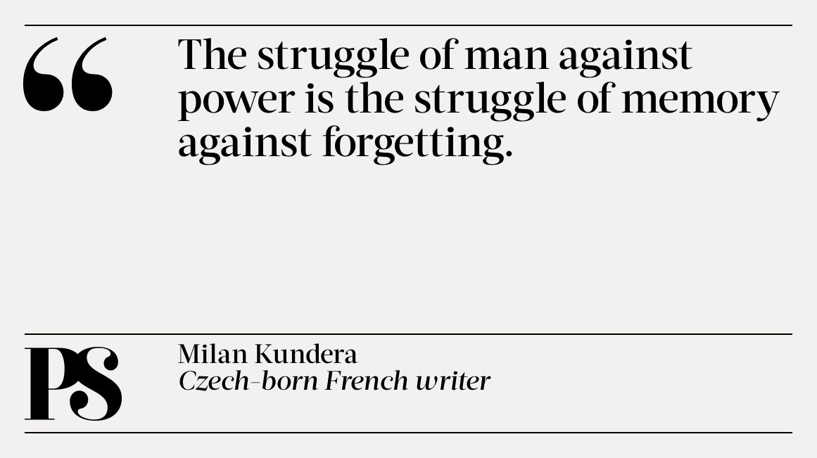 Project Syndicate On Twitter Todays Quote Is From Milan Kundera