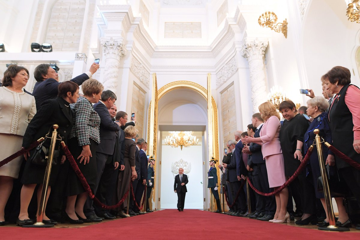 Vladimir Putin was sworn in as the President of the Russian Federation bit.ly/2I2mo6C