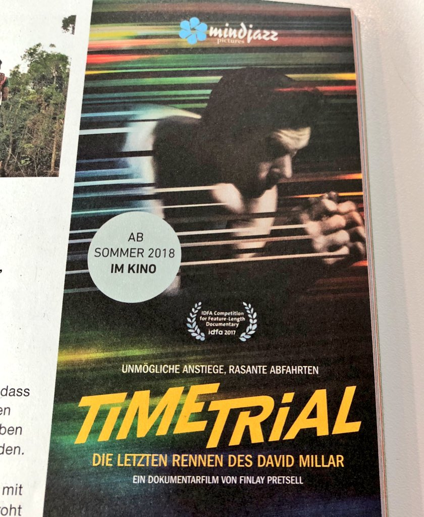 FRESH FROM @letouryorkshire DAVID appears TONIGHT 9pm at @dokfest #Muenchen #munich #riofilmpalast for German premiere of Time Trial. pic.twitter.com/lOICjpvl2K