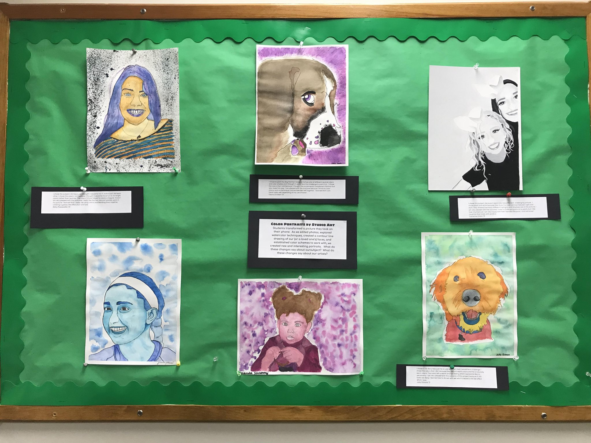 """YorktownCSD on Twitter """"Enjoy this month s featured artwork in our"""