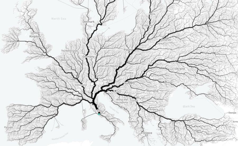 An Interactive Map Shows Just How Many Roads Actually Lead to Rome https://t.co/dDdnbxGEdg