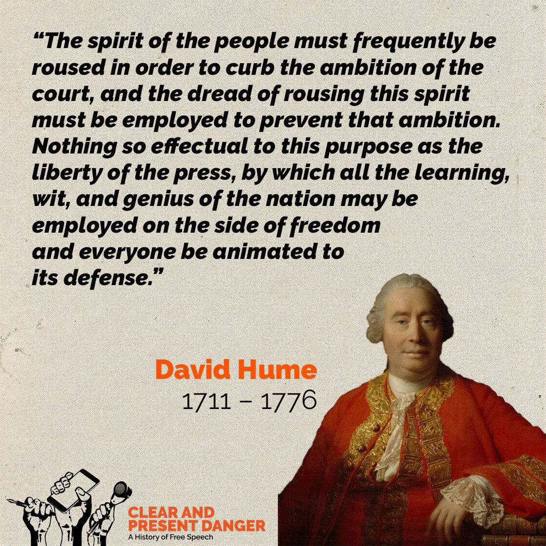 Clear And Present Danger On Twitter Happy Birthday David Hume