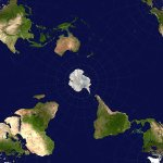 Image for the Tweet beginning: Antarctic-centric world #map helps you