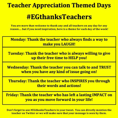 Feel Free To Use Them As Inspiration Mention The Teacher On Twitter Or We Can Relay The Message Pic Twitter Com Kugbvhrjx
