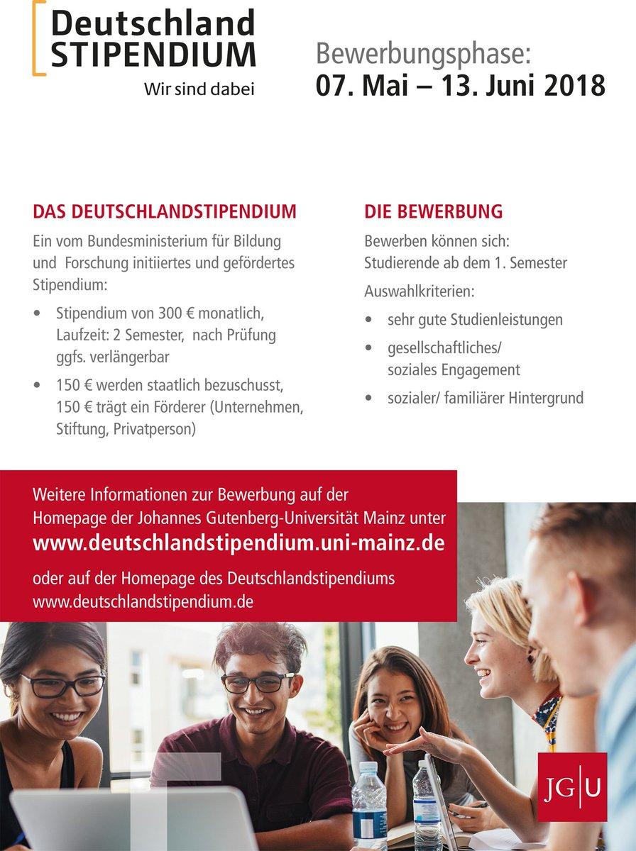 universitt mainz on twitter ab heute luft wieder die bewerbungsphase fr das deutschlandstipendium alle studierenden ab dem 1 - Uni Mainz Bewerbung
