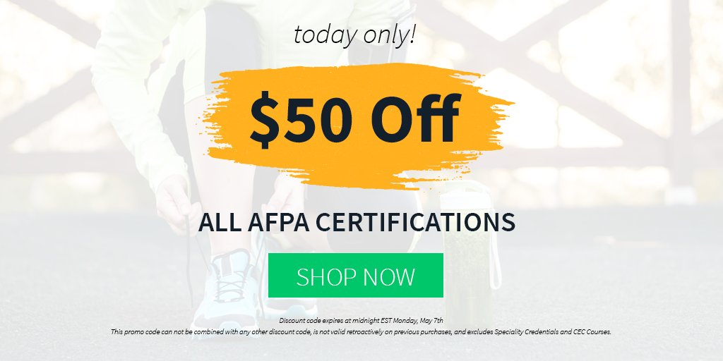 Afpa Fitness Nutrition On Twitter Today Only 50 Off All Afpa