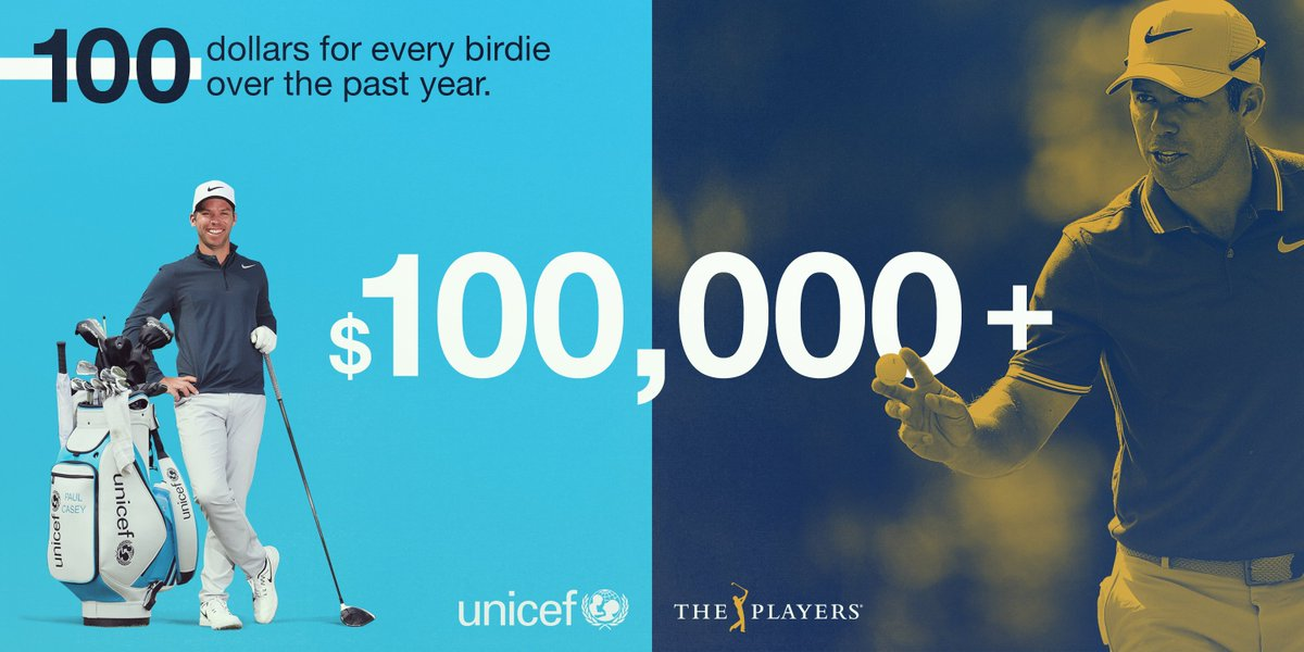 Incredibly proud of the partnership I've had with @Unicef over the last year. Thanks to all who have supported! Looking forward to donating some more this week at @THEPLAYERSChamp. together.pgatour.com/stories/18/may…
