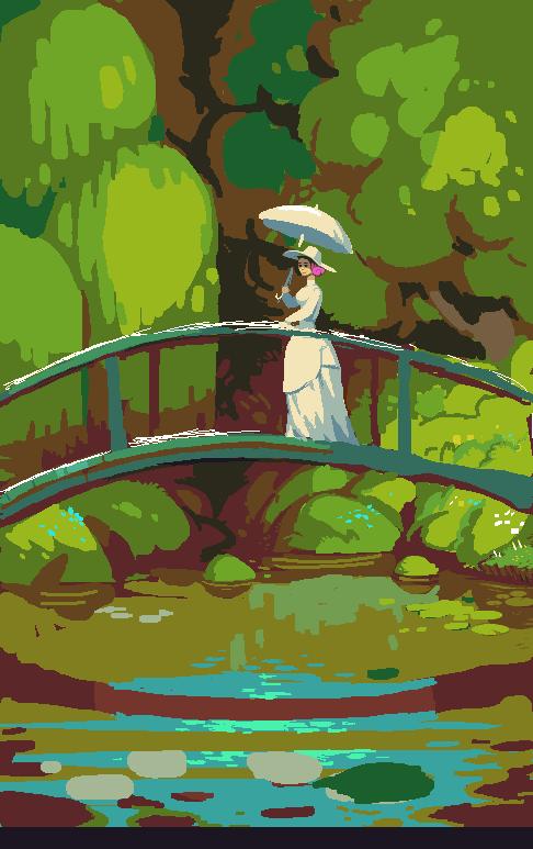 In progress. Based on a comic book about Monet #pixel #pixelart
