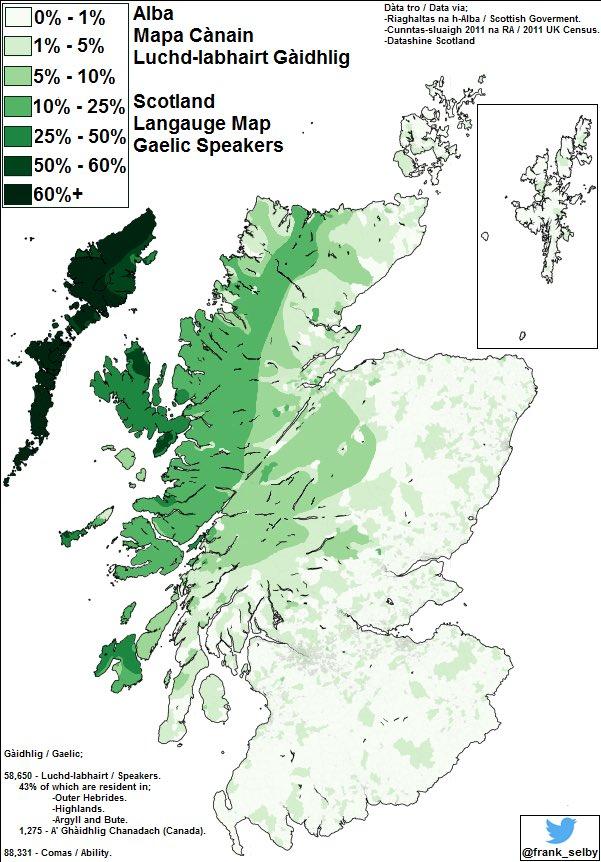 Lochaber Scotland Map.Uk Language Maps On Twitter Alba Scotland Language Map Gaidhlig